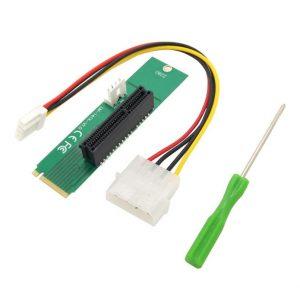 M.2 NGFF naar 4x PCI Express converter + Molex adapter