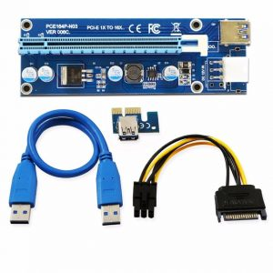 PCIe Riser Card 1x to 16x USB-3.0 Data