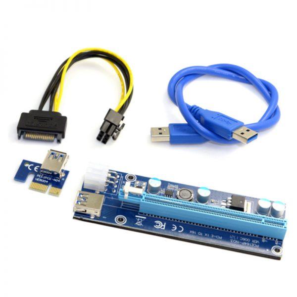 PCIe Riser USB 3.0 Powered riser 1x-16x 006C