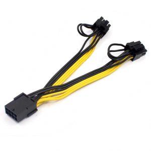 PCIe 8-Pin naar 2x 8-Pin (6+2) GPU Voeding Splitterkabel