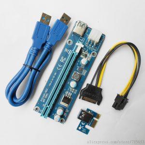 PCIe Riser V009S - USB3.0 - 6Pin PCIe